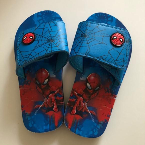 Marvel spiderman slippers sandal toddler boys us9
